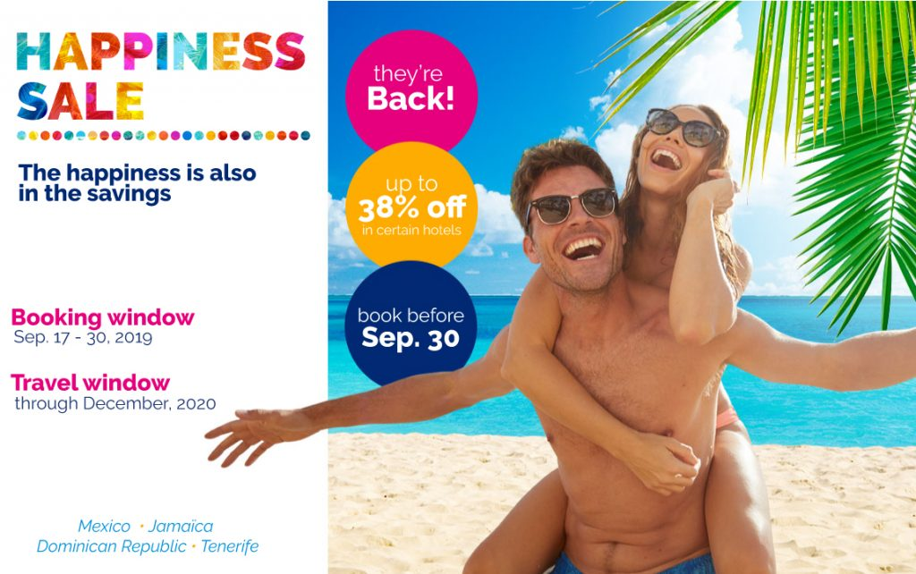 September 2019 Happiness Sale