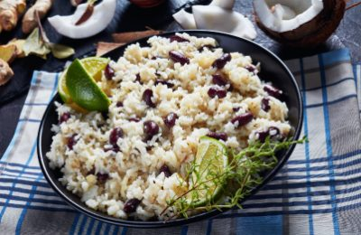 Featured rice with coconut