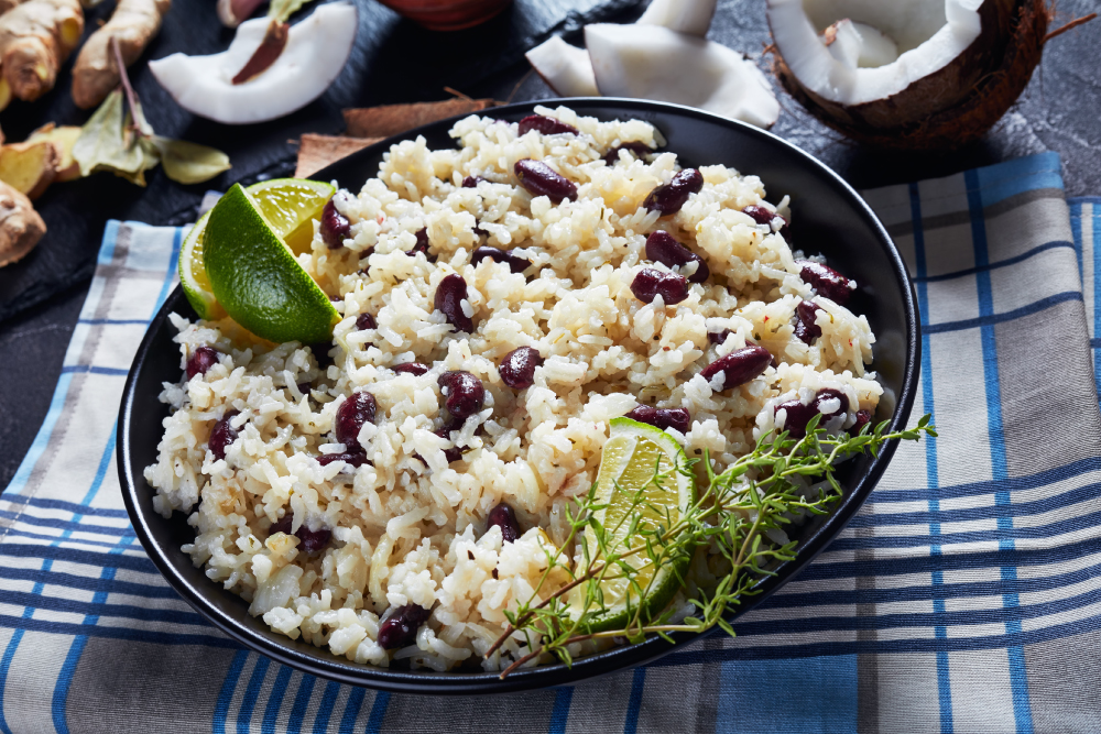 rice with coconut